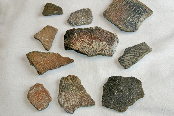 Shards of Cord-Marked Pottery