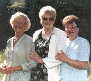 Mom (left) and her Southern Gospel Trio (1990)