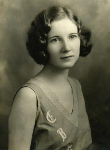 My Grandmother Ruby as a high-school senior