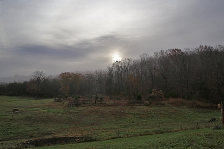 Winter Sun Over Mockingbird Hill