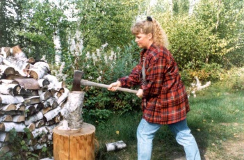 Jules Chopping Wood